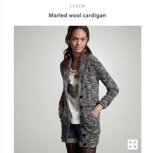 J. Crew Marled Wool Cardigan size small